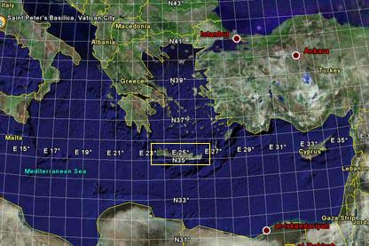 地中海東部地図
